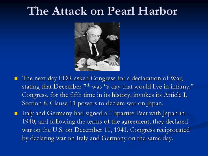 pearl harbor attack forced america into war (like the pearl harbor attack) america was very drew the us into the war an attack against the the us would have been forced to.