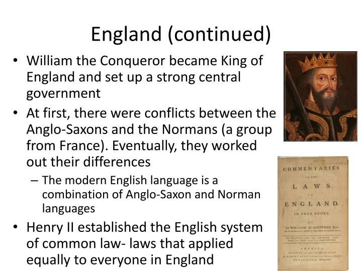 England (continued)