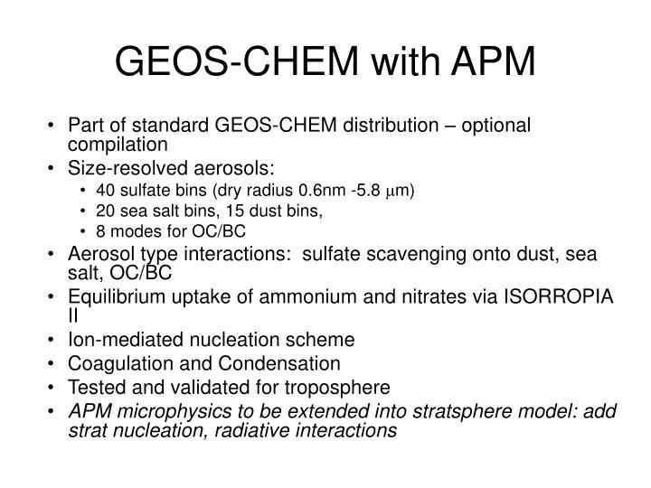 GEOS-CHEM with APM