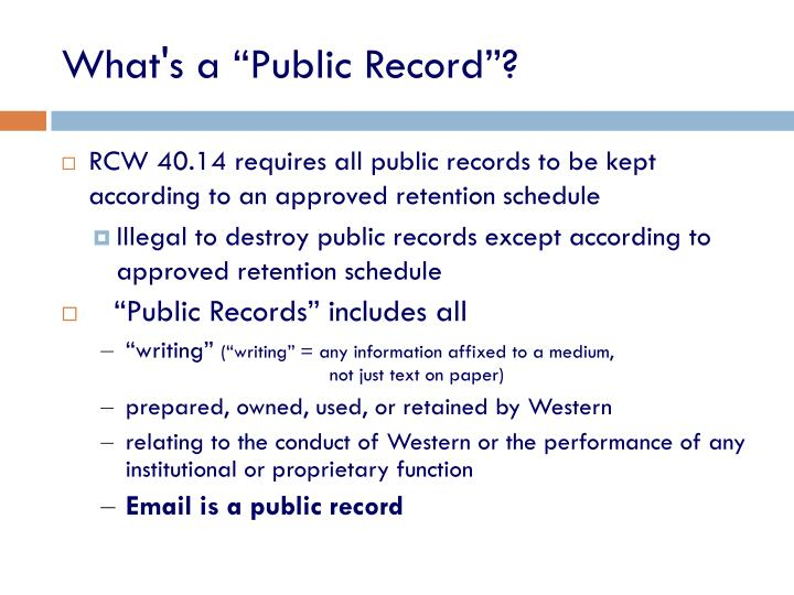 "What's a ""Public Record""?"
