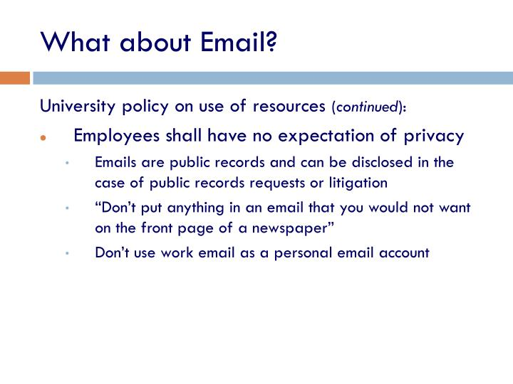 What about Email?