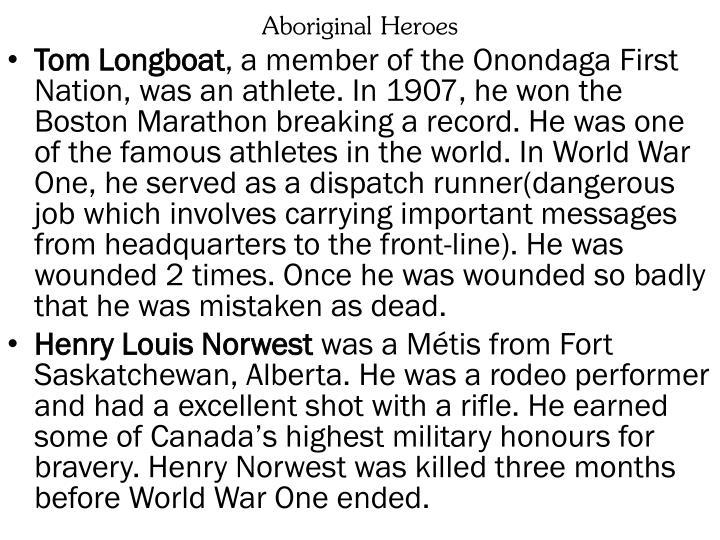 Aboriginal Heroes