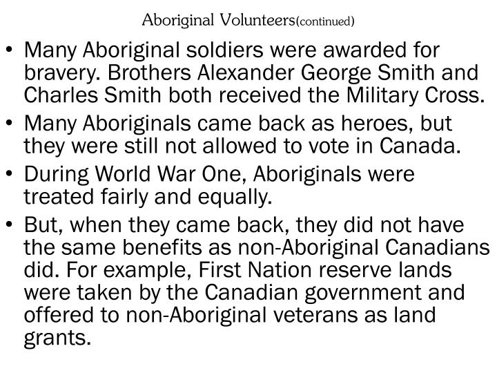 Aboriginal Volunteers