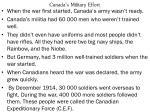 canada s military effort