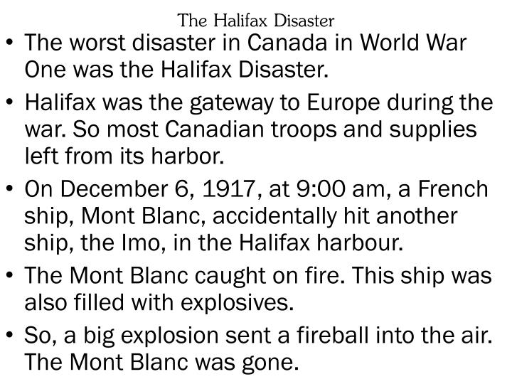 The Halifax Disaster