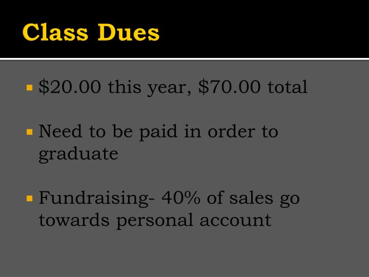 Class dues