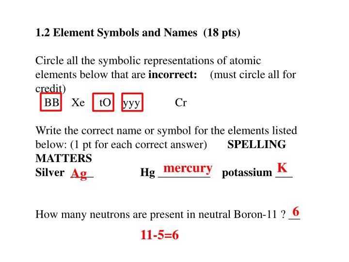 1.2 Element