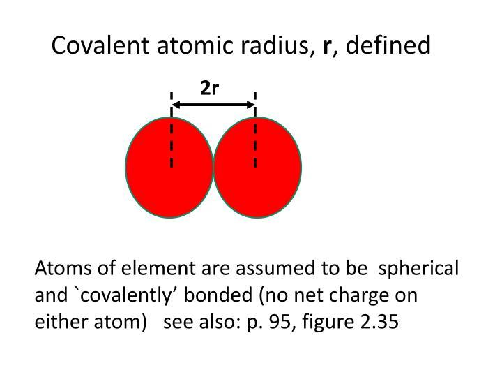 Covalent atomic radius,