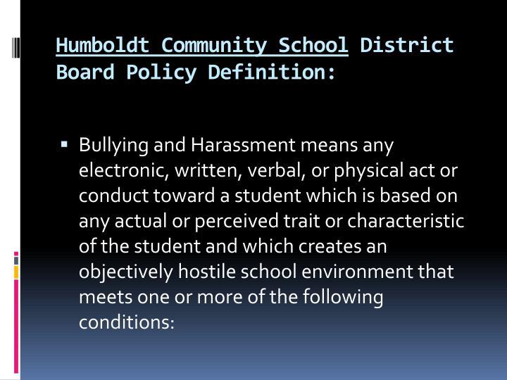 Humboldt Community School