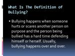 what is the definition of bullying