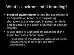 what is environmental branding