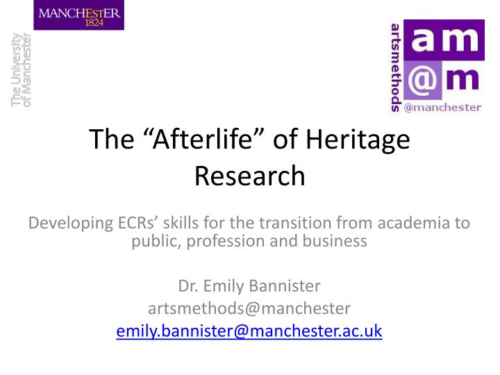 The afterlife of heritage research