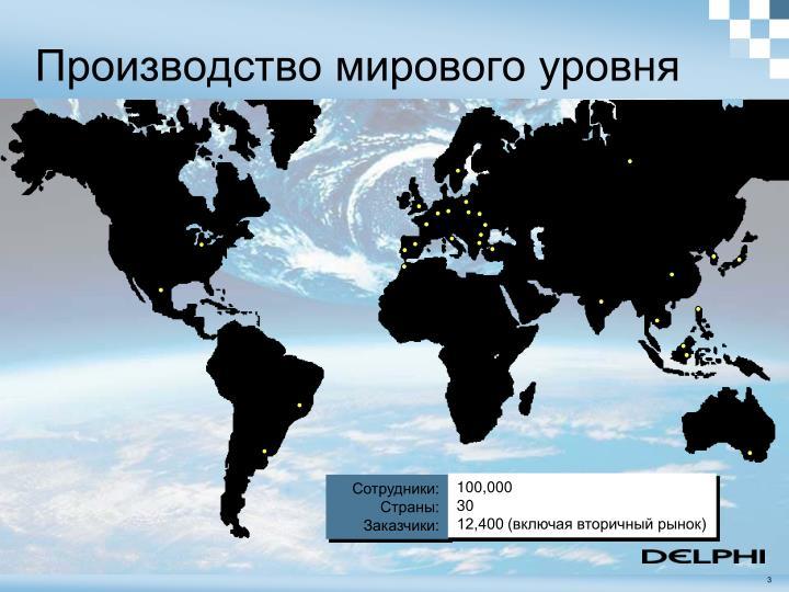 Производство мирового уровня