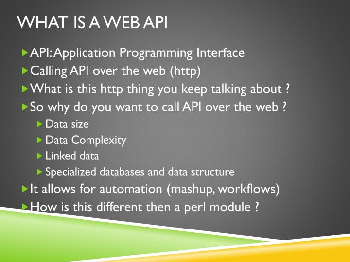 What is a web API
