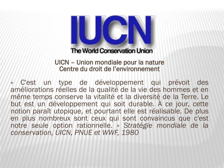 UICN – Union mondiale pour la nature