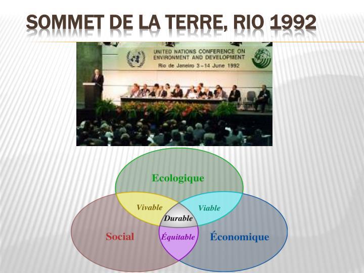 Sommet de la Terre, Rio 1992