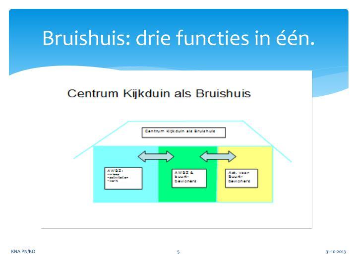 Bruishuis: drie functies in één.