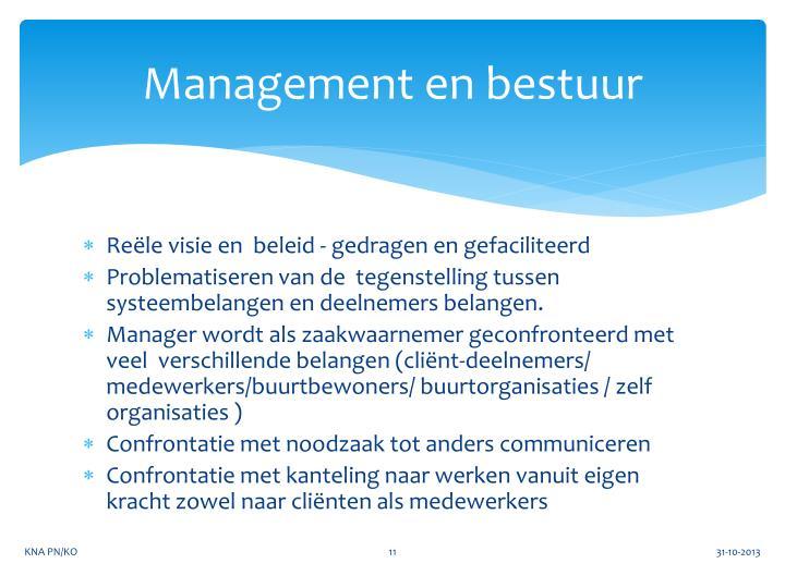 Management en bestuur