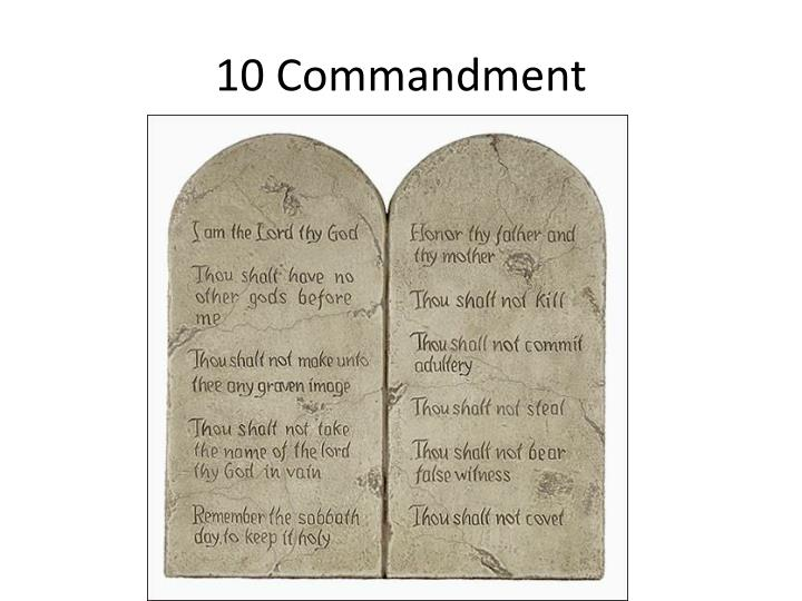 10 Commandment