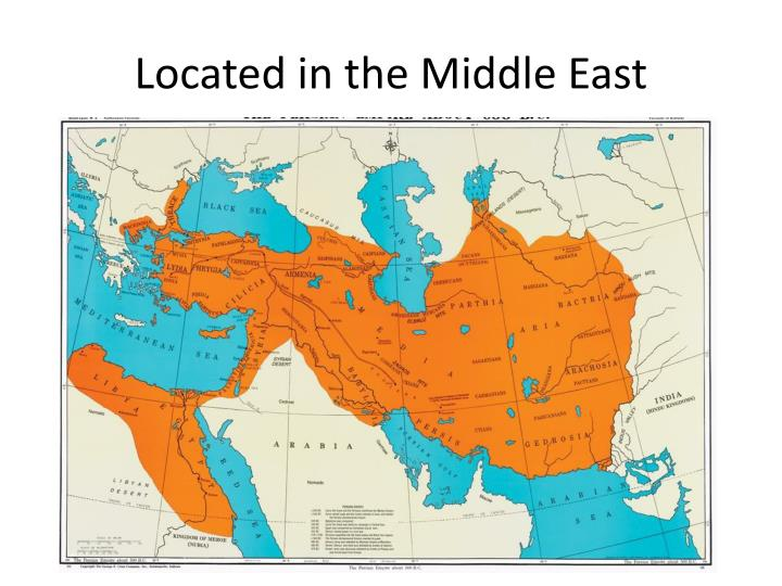 Located in the Middle East