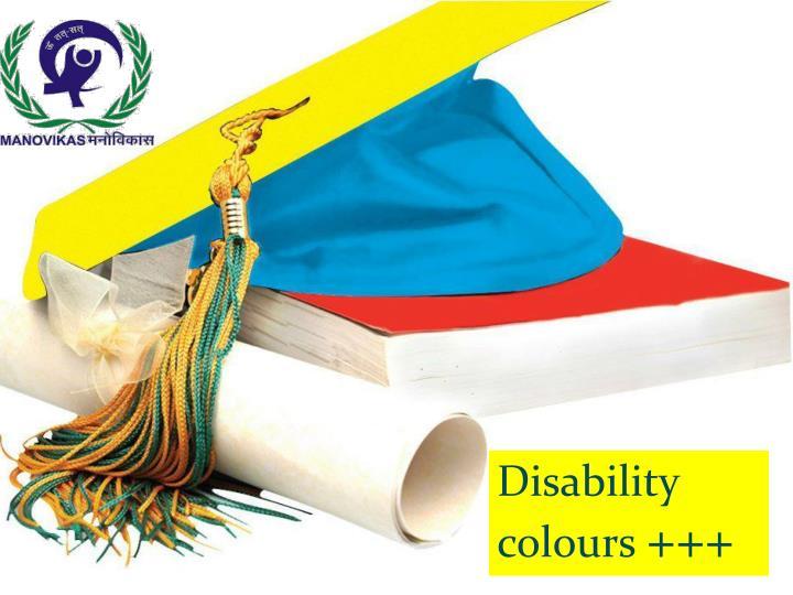 Disability colours