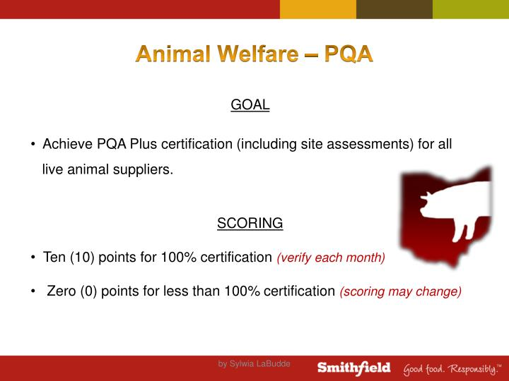 Animal Welfare – PQA