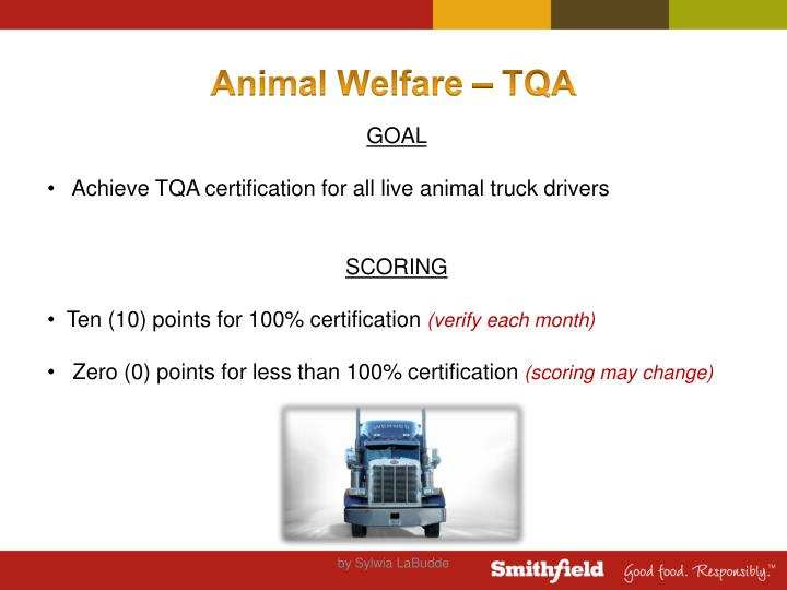 Animal Welfare – TQA