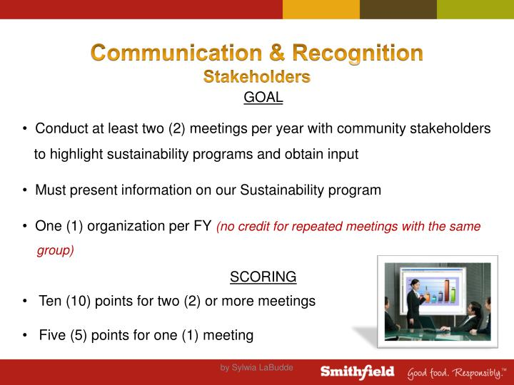 Communication & Recognition