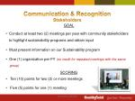 communication recognition stakeholders