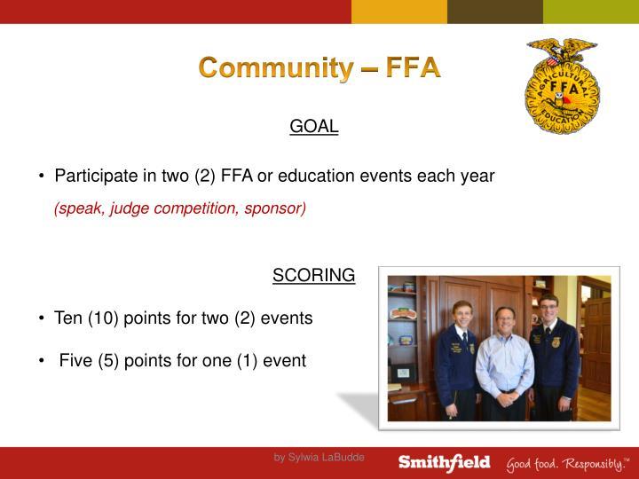 Community – FFA