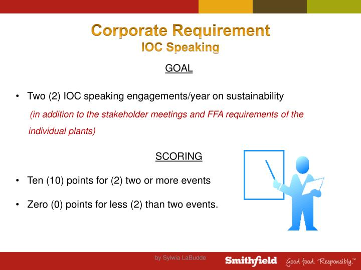 Corporate Requirement