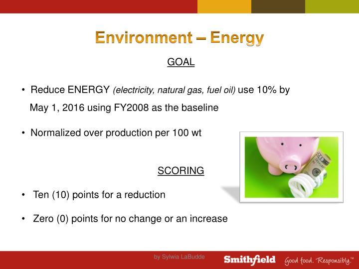 Environment – Energy