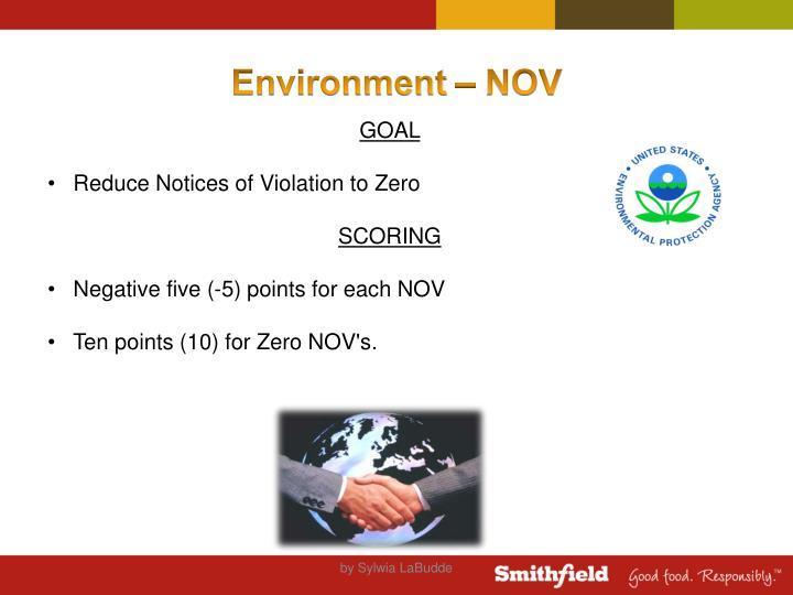 Environment – NOV