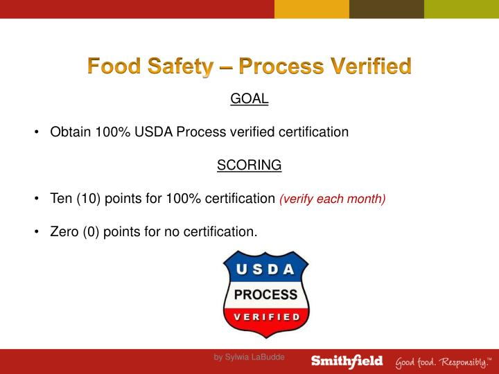 Food Safety – Process Verified
