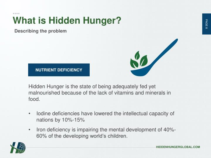 What is Hidden Hunger?
