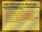 light afflictions v s blessings1
