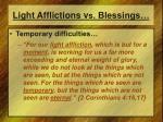 light afflictions v s blessings2