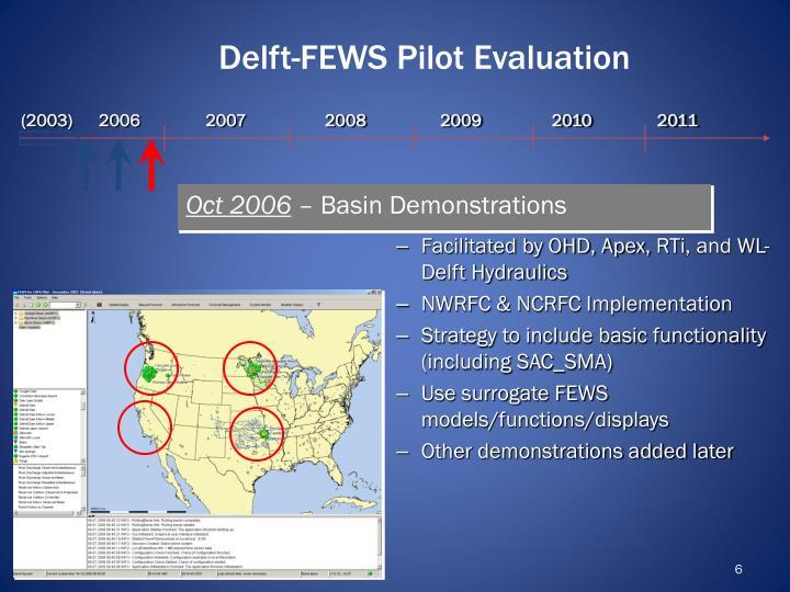 Delft-FEWS Pilot Evaluation