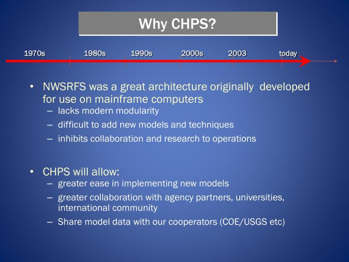 Why CHPS?