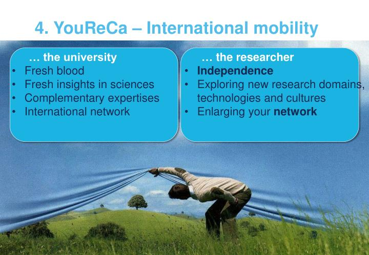4. YouReCa – International mobility