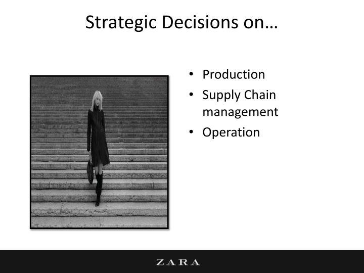 Strategic Decisions on…