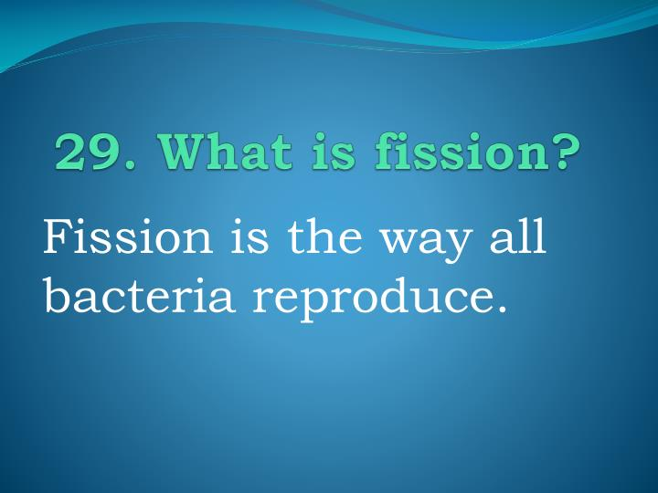 29. What is fission?