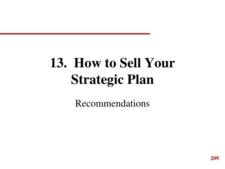 13.  How to Sell Your