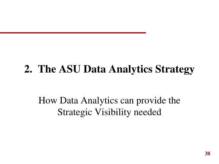 2.  The ASU Data Analytics Strategy