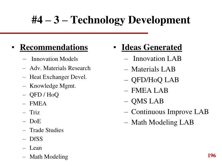 #4 – 3 – Technology Development