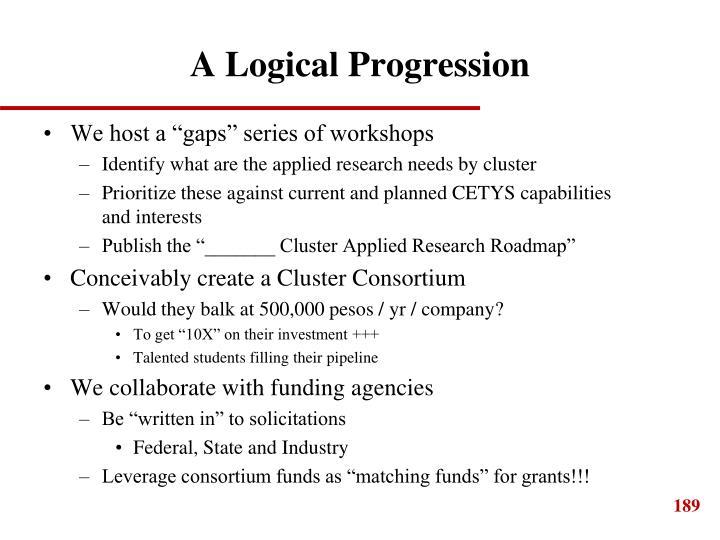 A Logical Progression