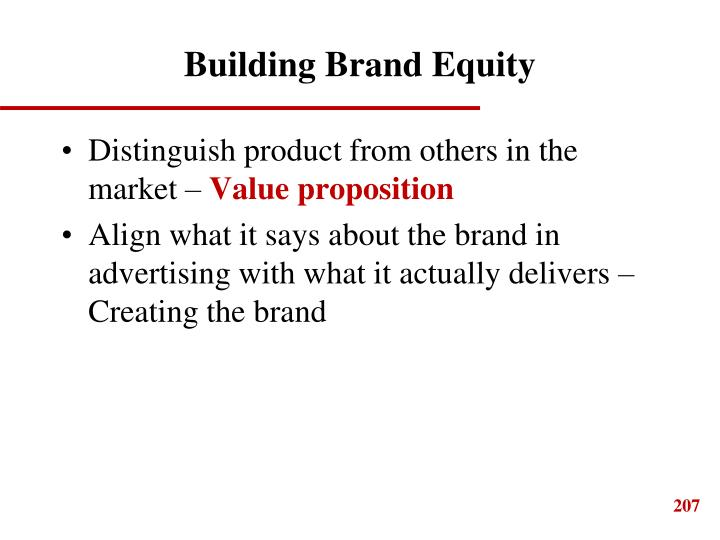 Building Brand Equity