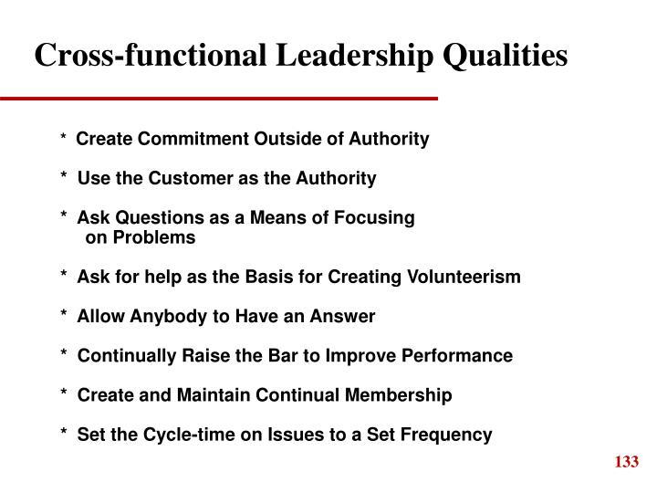 Cross-functional Leadership Qualities