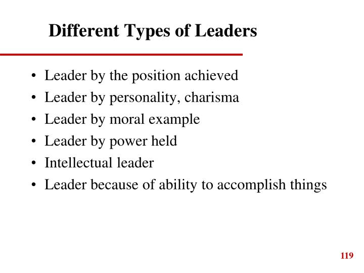Different Types of Leaders