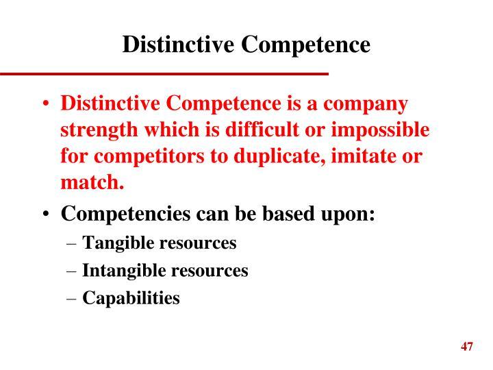 Distinctive Competence